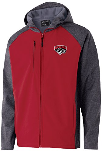 Ouray Sportswear NCAA New Mexico Lobos Men's Raider Soft Shell Jacket, Large, Carbon Print/Scarlet