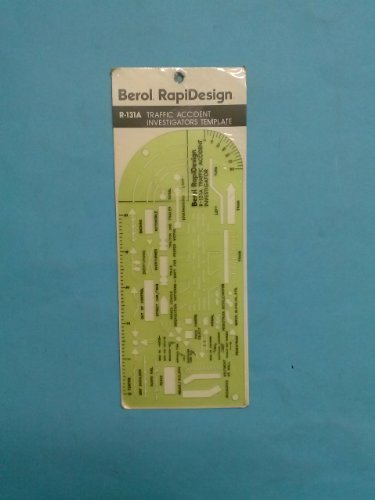 Berol(R) RapiDesign(R), R-131A, General Traffic Symbols, Made in the USA by RAPIDESIGN by RAPIDESIGN