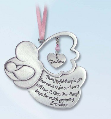Pretty GUARDIAN ANGEL Baby GIRL Crib Medal 4