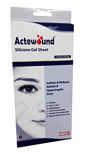 Actewound, Silicone Gel Sheet, Softens and Reduces Keloids and Hypertrophic Scars. (Size: 7 cm. X 15 cm.) (1 Sheet)/ box)