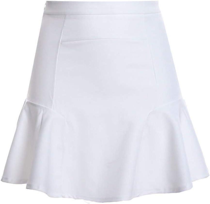 QBXDQ Falda Corta Tallas Grandes Falda Blanca Color Sólido Gasa ...