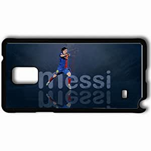 Personalized Samsung Note 4 Cell phone Case/Cover Skin Lionel Messi Lionel Messi Football Black
