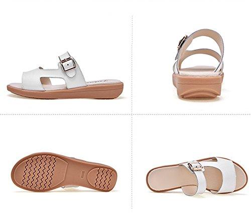 in Moda Pantofole Fibbia Estate delle Sandali Metallo Protettivi Cool Fondo A Signore Piatto pqSWTn0ZfW