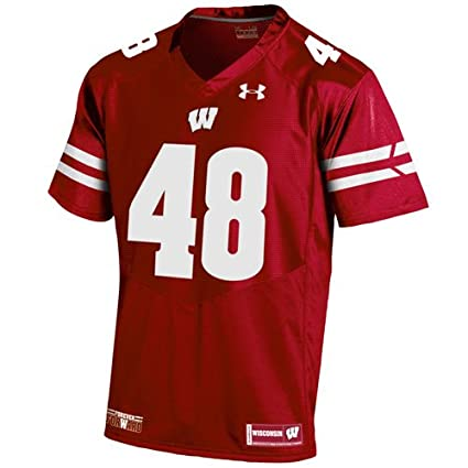 Amazon.com   Wisconsin Badgers Youth Red Sideline Football Replica ... 782b9c3e4
