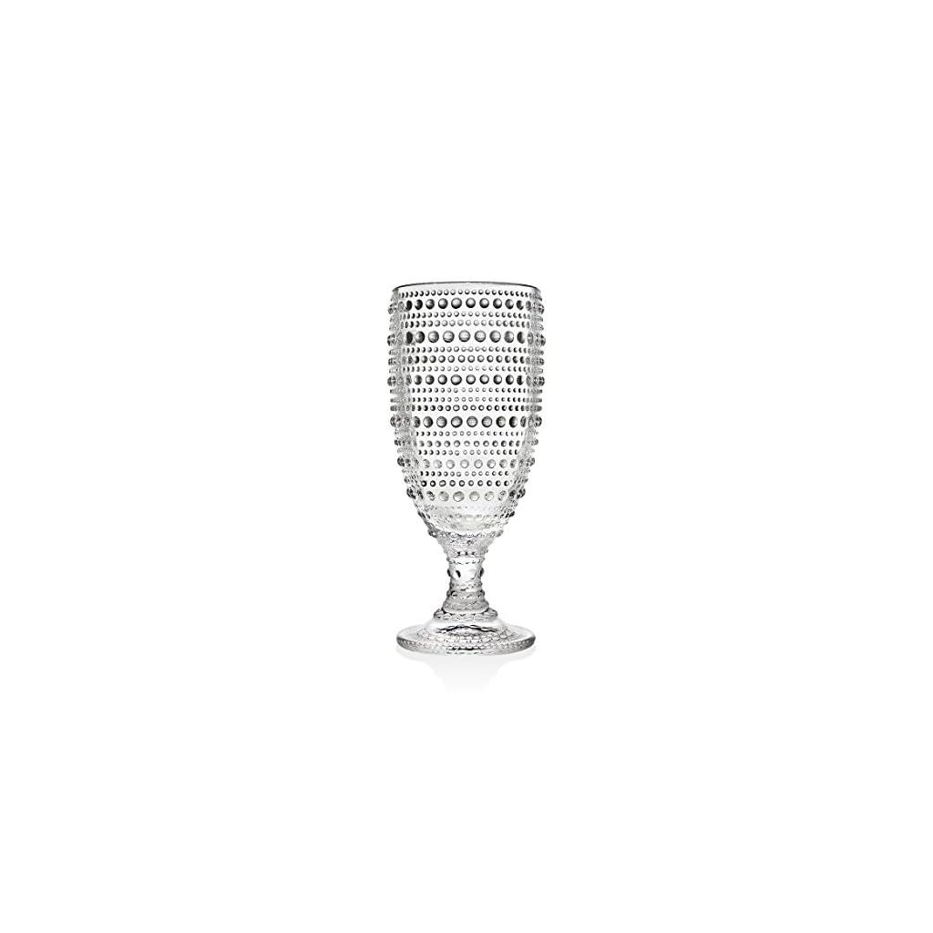 Godinger Ice Tea Beverage Tall Glasses – Lumina, 13oz, Set of 4