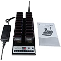 Queue Wireless Call Calling System 20pcs Pager/ 1pc Call Button Keypad