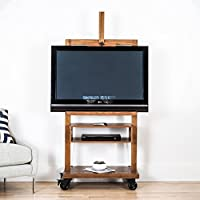 Hives and Honey Cullen Oak 3-Tier TV Stand for Flat TV Panel Television Wood Storage Entertainment Center