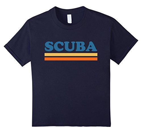 [Kids Scuba T-Shirt Gift For Scuba Diver 6 Navy] (Scuba Diver Costumes)