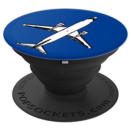 737 Airliner Airplane Flying Blue Design - PopSockets Grip and Stand for Phones and (Airliner Plane)