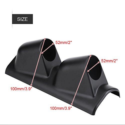 ETbotu 52MM Right Side Carbon Fiber Pillar 1 Hole Single Gauge Meter Mount Holder For Vehicle Car