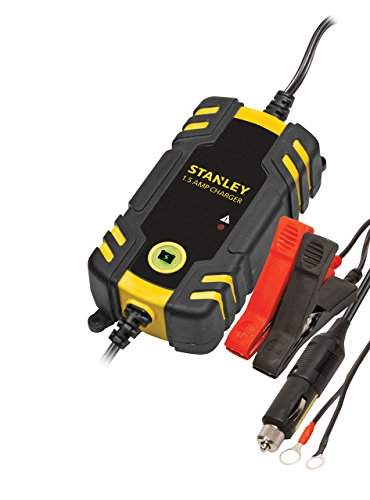 (STANLEY BC209 Fully Automatic 1.5 Amp 12V Battery Charger/Maintainer with Cable Clamps)
