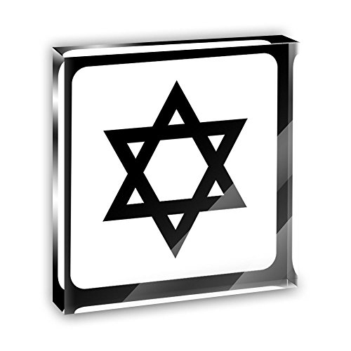 Star Acrylic Plaque - Star of David Acrylic Office Mini Desk Plaque Ornament Paperweight