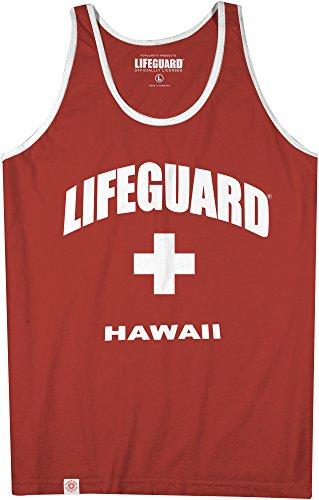 - Maui Clothing Lifeguard Hawaii Men's Ringer Tank Top (X-Large)