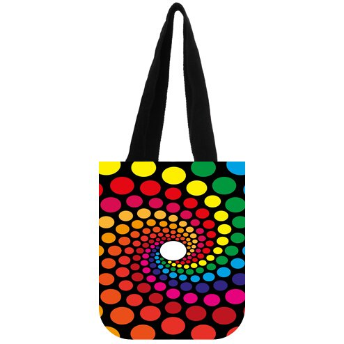 (Women's Polka Dot Pattern Cotton canvas Reusable Market Grocery Tote)