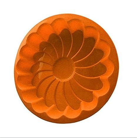 DaoRier Moldes de Chocolate Naranja para Tartas, Dulces, Bandeja de Hielo, Herramientas para