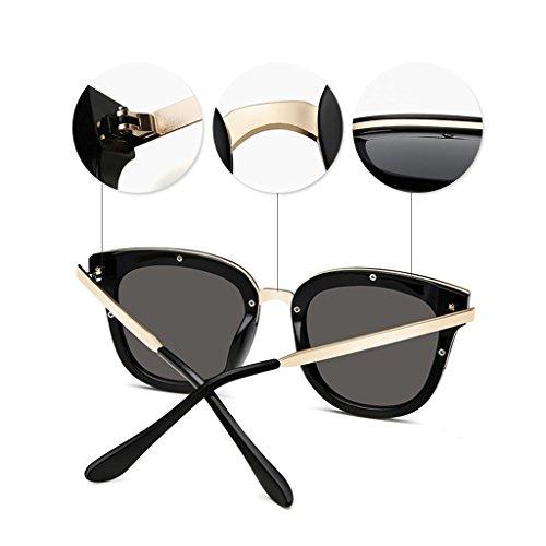 Soleil UV Lunettes Minces de Moderne Femmes Lunettes de Métal Protection Soleil Polarisées Lunettes Ultra 100 Soleil Mode Silver de wPXqPSn