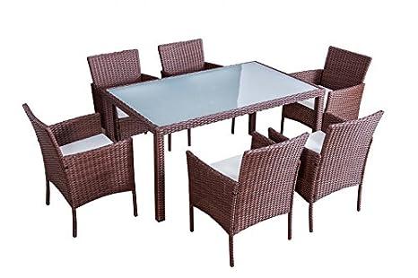 Jet di linea mobili messico marrone tavolo da giardino in