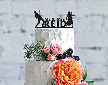 Musicians Wedding Cake Topper Wedding Cake Topper Personalized