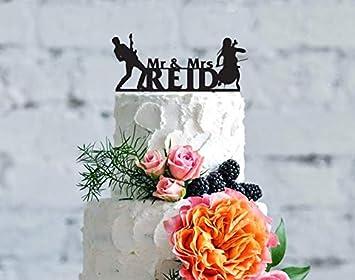 Amazon De Tortenaufsatz Fur Hochzeitstorten Mit Musikern