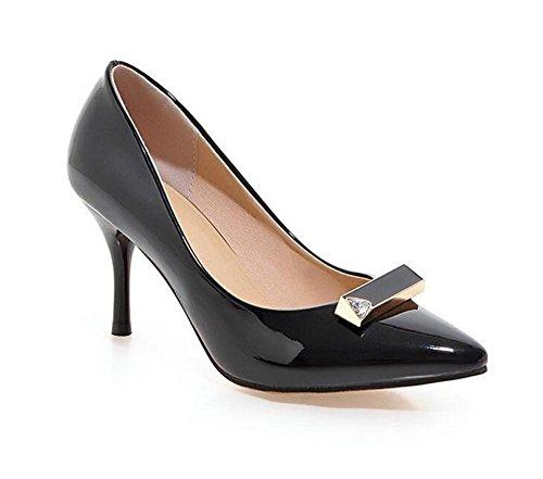 Baja la para el Finas pie Dedo BLACK 38 Zapatos Las los Zapatos con Ayudar Boca de XIE 39 de Inclinada a Baja Mujeres Corte Pink la apuntó del de bajo Boca YvqTqB8