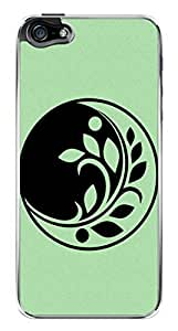 Abstract Flower Leaves Symbol Snap-On Cover Hard Plastic Case for iPhone 5/5S (Clear)