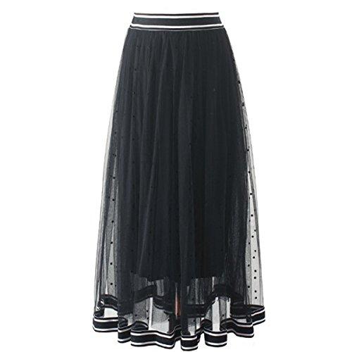 Style Fte Tulle Pliss Mode Nouvelle Mariage Noir Casual vase Jolie Doublure Femme Jupon avec Maxi Fanessy d't en lgant Plage Soire Party Jupe Jupe Pois Lger 76WRqn