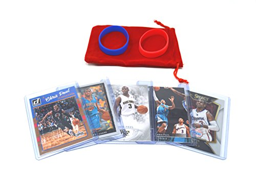 Chris Paul Basketball Cards Assorted (5) Bundle - Los Angeles Clippers, New Orleans Hornets Trading Cards