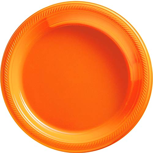 Big Party Pack Orange Peel Plastic Plates | 10.25