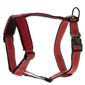 Kong On The Go Reflective Paracord Adjustable Harness, Red, Small