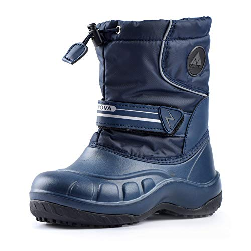 Nova Mountain Little Kid's Winter Snow Boots,NF NFWBN12 DarkBlue 7
