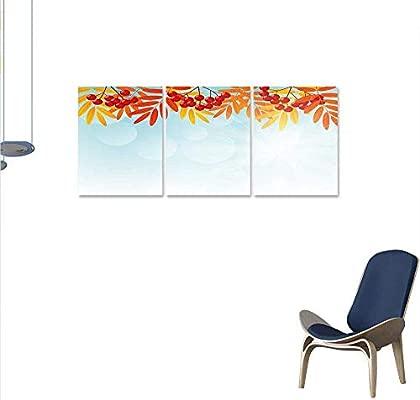 Anzhutwelve Rowan Murale Peintures Sunny Fond Avec Rouge