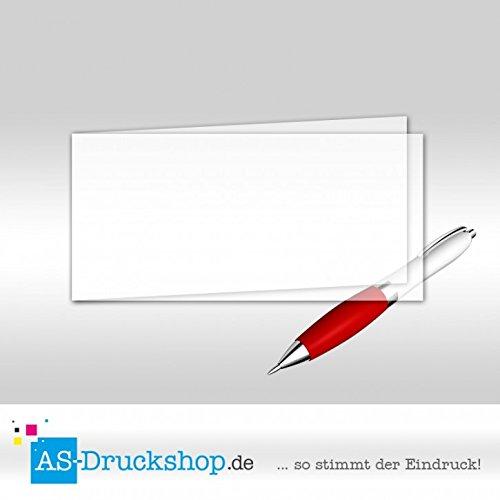 Faltkarte aus Transparentpapier - Weiss 100 Stück DIN Lang quer B0794ZLR8Y | Flagship-Store
