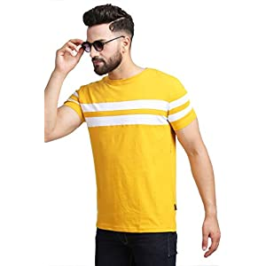 RodZen Mens Half Sleeve Cotton Round Neck Tshirt