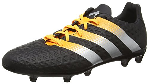 adidas Ace 16.3 Fg/Ag, Botas de Fútbol para Hombre Negro (Core Black/Silver Met./Solar Gold)