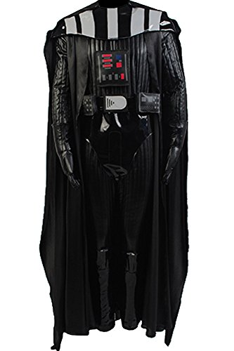 Cosplaysky Men's Halloween Costume Black Officer Uniform Outfit Large ()