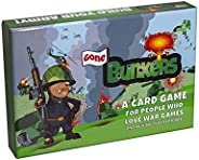New 2021 Gone Bunkers Card Game - Family-Friendly Party Game - War Game for Adults, Teens, &