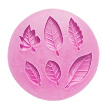 Elisona®Leaves Pattern Silicone Sugar Jelly Baking Candy Fondant Craft Mold DIY Cake Decorating Mould