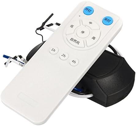 Ils - Ventilador de Techo 175-265V Fan Lámpara Ventilador de Techo Control Remoto y Receptor Kit Control Remoto Distancia 60m