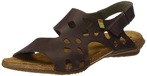 Naturalista Donna Brown Open El N5061 Pleasant Wakataua Marrone Sandali Toe U0ZqdHw