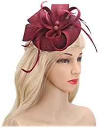 8d059bef883 Fascinator Feather Fascinators for Women Pillbox Hat for Wedding Party  Derby Royal Banquet