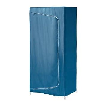 IKEA BREIM Kleiderschrank in blau; aus Stoff; (80x55x180cm ...