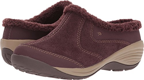 Inglefur Mule, Wine/Wine Suede, 9 M US (Easy Spirit Leather Clogs)