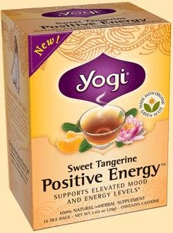Yogi Sweet Tea Tangerine Positive Energy, 16 sachets de thé, une boîte