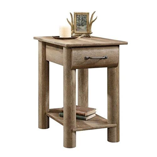 Sauder Boone Mountain Side Table, Craftsman Oak finish (Furniture Utah Rustic)