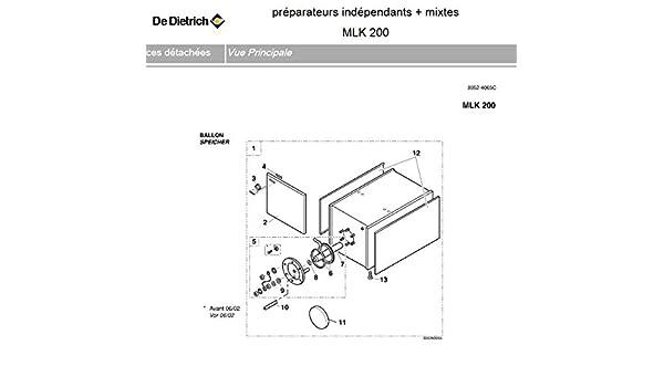 De Dietrich EA20 - Recipiente de agua caliente sanitaria MLK 200 para sbk-m-5 - 7-9 - 200 litros: Amazon.es: Bricolaje y herramientas