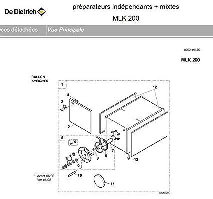 De Dietrich EA20 – Recipiente de agua caliente sanitaria MLK 200 para sbk-m-