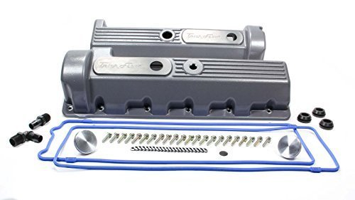 (TRICK FLOW Aluminum Stock Height Valve Covers Ford Modular P/N TFS-51800801)
