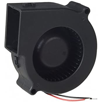 12V DC Brushless Blower Cooling Fan Fugetek, HT-07530D12, 75x75x30mm, 2pin, Dual Ball Bearing, Computer Fan, Multi Use, Black, US Support