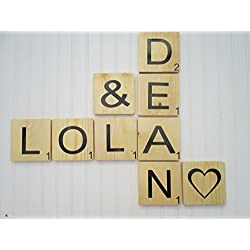 Large Scrabble Tiles for Words and Phrases. Scrabble Wall Letters for Gallery walls and Home decor.