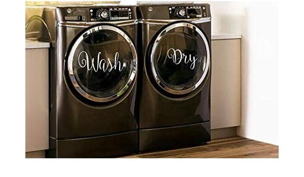 CELYCASY calcomanías para lavar y secar en lavadora y secadora ...